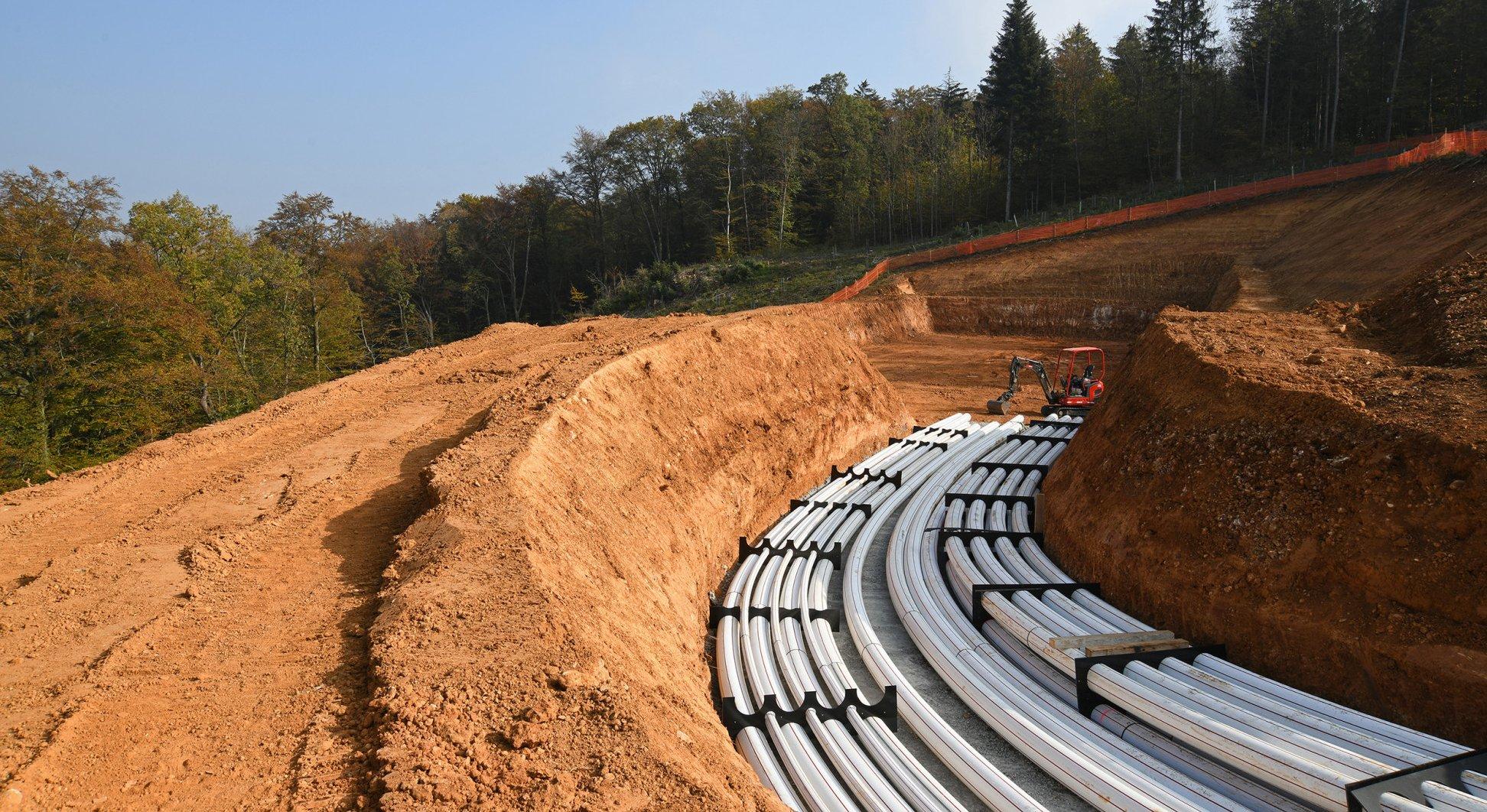 Infrastrukturbau Bözberg Teilverkabelung 380kv Leitung