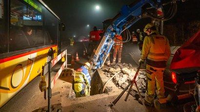 Rohrbruch-Notdienst flickt Wasserleitungsbruch in Mellingen über Nacht