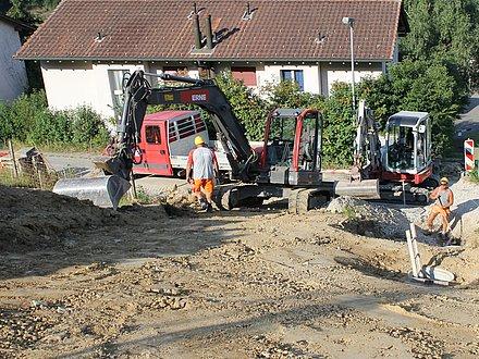 Tiefbau Etzgen, Strassensanierung/Leitungsbau
