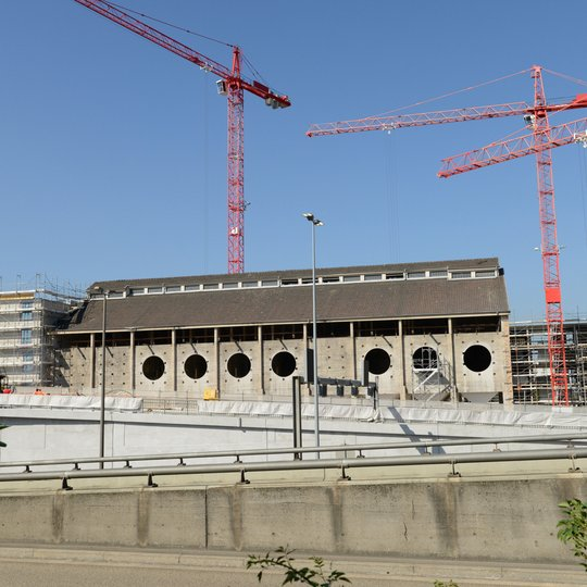 Umbau Silo Erlenmatt Basel Aussenansicht