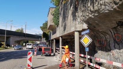 Klassische Beton-Instandsetzungsarbeit auf Oltner Baustelle