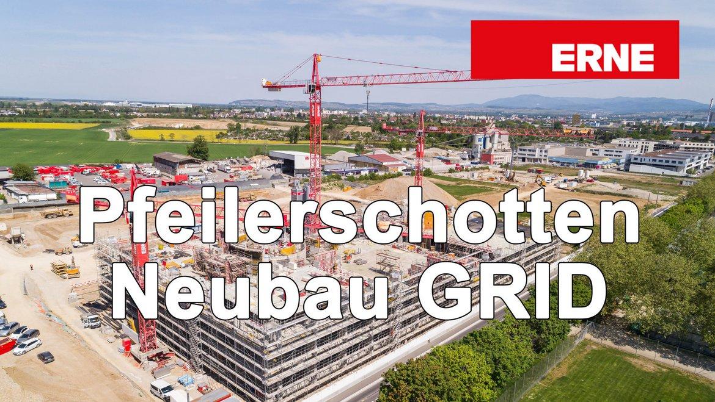Neubau GRID Allschwil BaseLink Pfeilerschotten