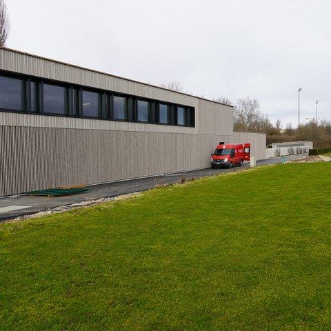 Basel Hochbau Sportanlage St. Jakob Neubau Betriebsgebäude