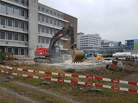 Tiefbau Muttenz, Rückbau Infrapark Bau 949