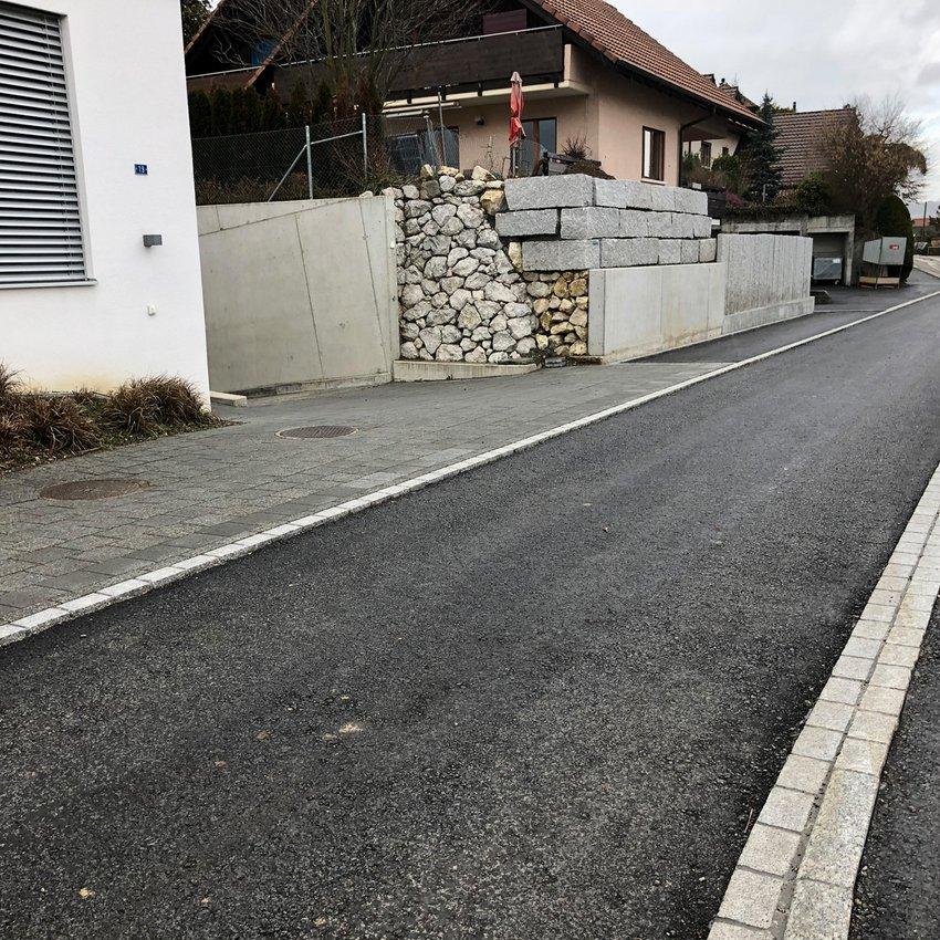 Verkehrswegbau Tiefbau Roemerweg Ehrendingen