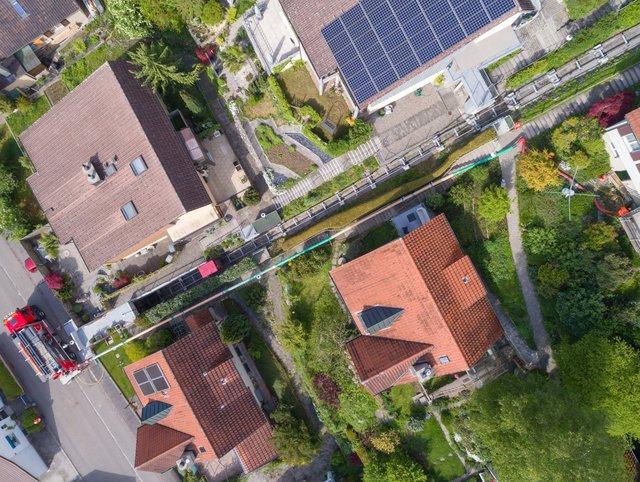 Brugg Wasserleitungsbruch Distanzsaugen mit dem ERNE-FANT