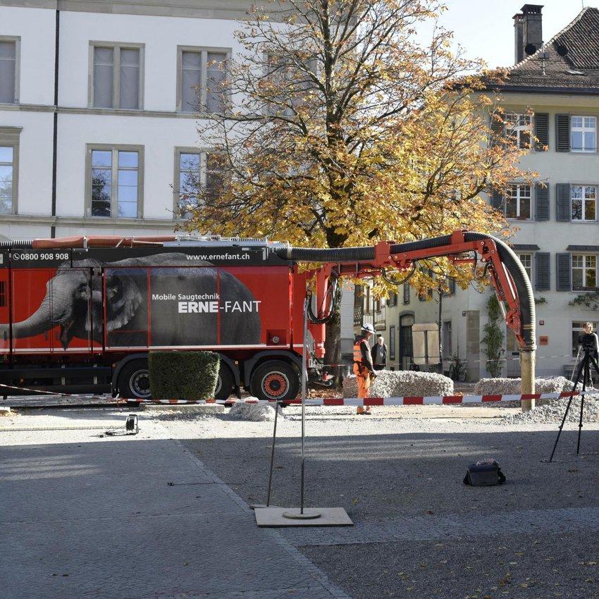Saugbagger-Einsatz Rock Print Pavillon Winterthur