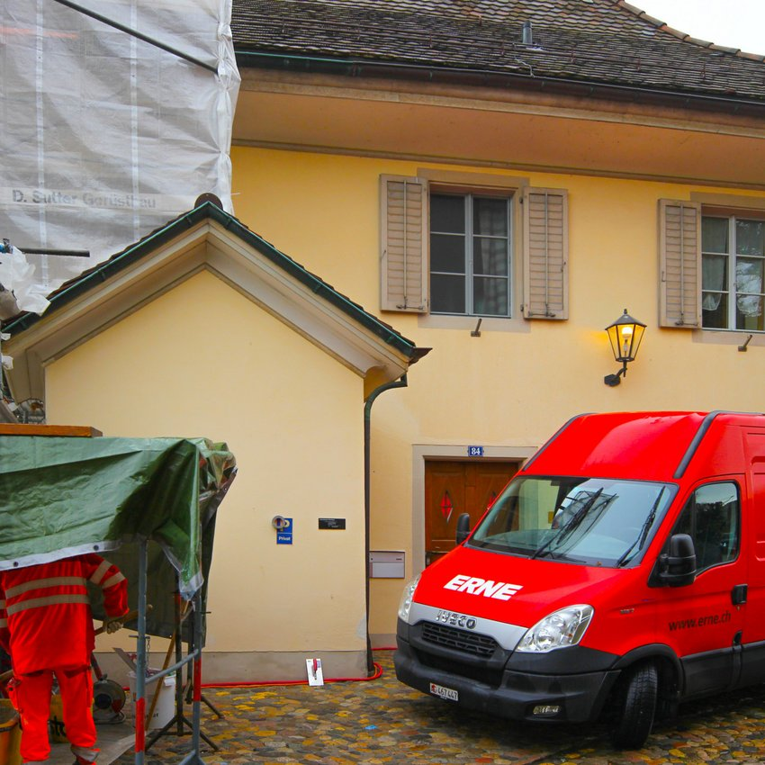 Kundenmaurer Sanierung Pfarrhaus Laufenburg