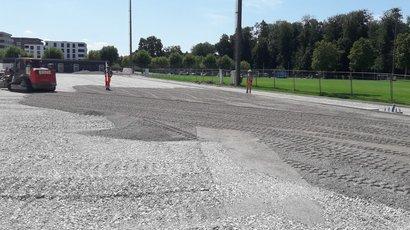 Zuchwil: Bau eines Untergrundes für den Fussballplatz