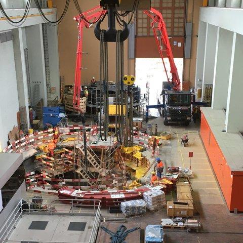 Werterhaltung Rupperswil-Auenstein Ersatz Generator Kraftwerk