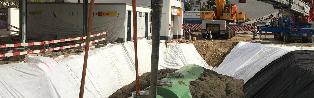 Oftringen Tiefbau Shell Tankstelle