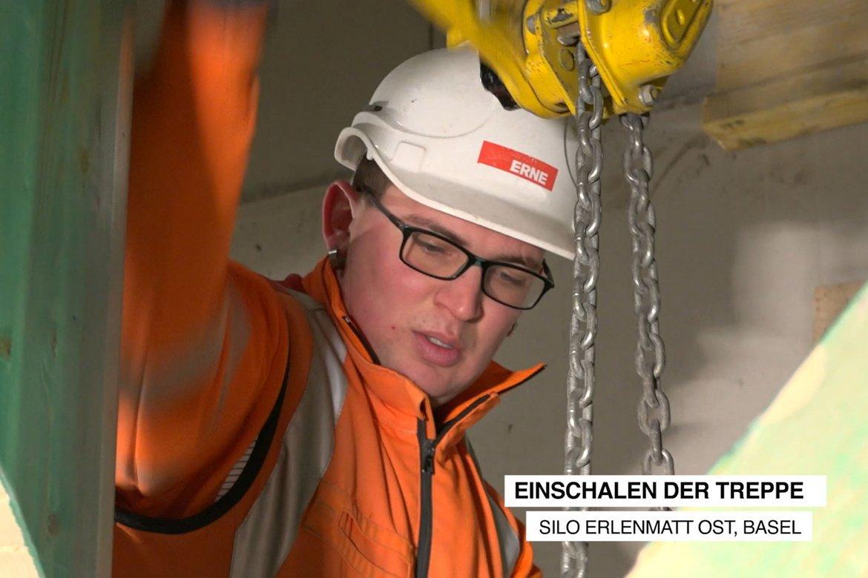 Video Umbau Silo Erlenmatt Basel Treppenschalung