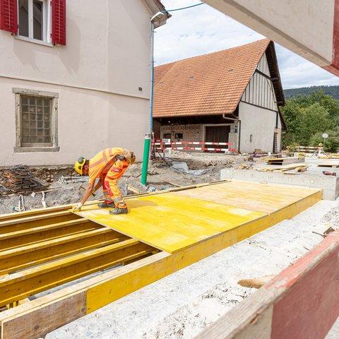 Tiefbau Rupperswil Sanierung Dorfbachüberdeckung
