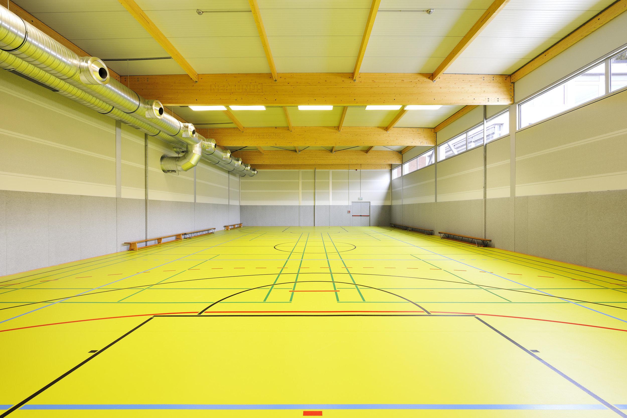 Feldsporthalle und modernem und schlichtem Design