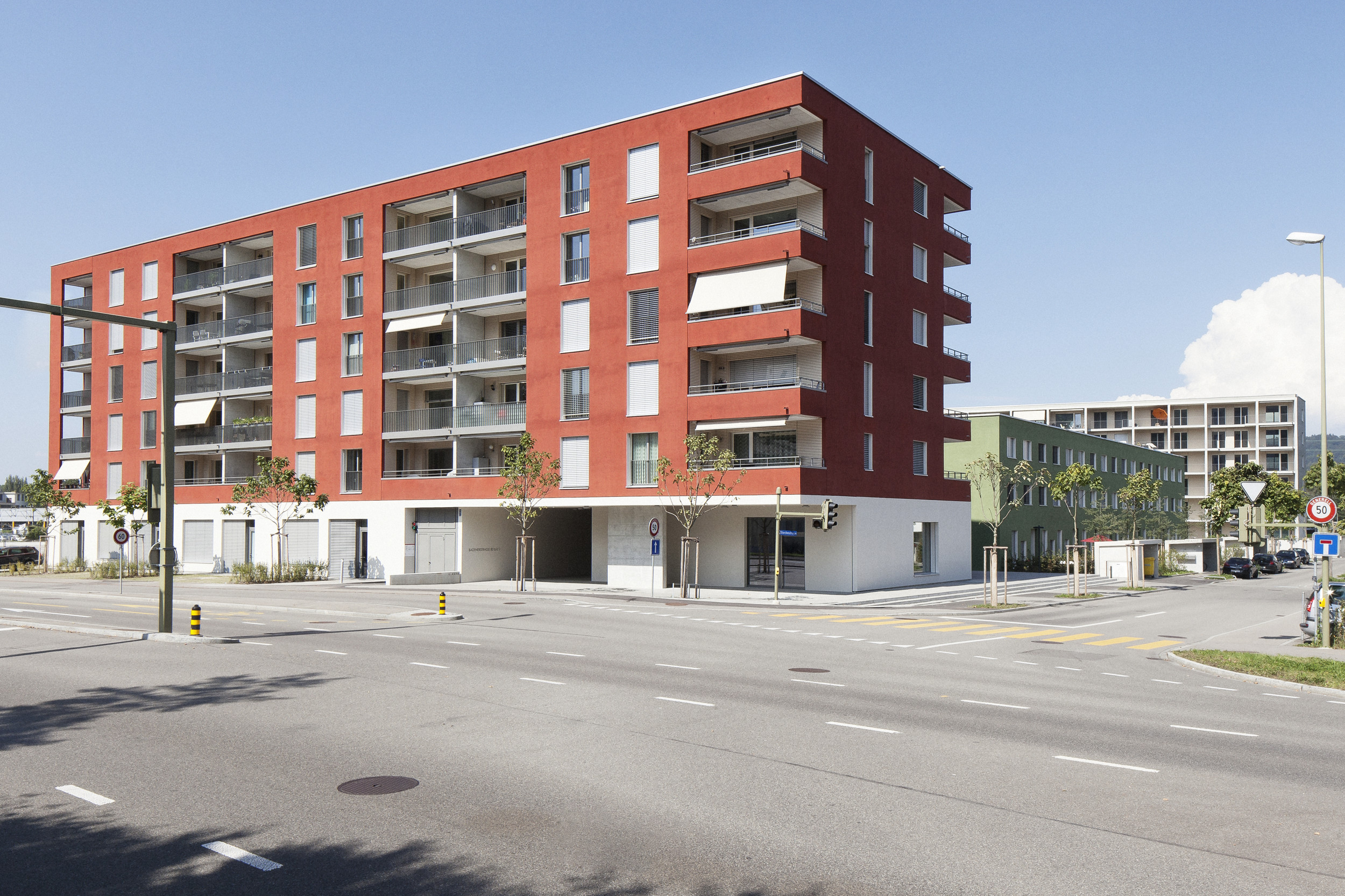 5-stöckiges Mehrfamilienhaus in Hybridbauweise