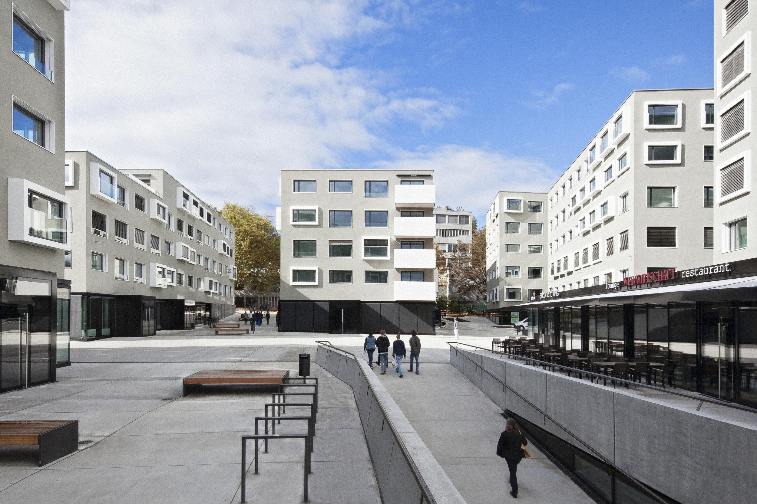 Wohnparkareal mit erhöhter Schallschutzanforderung