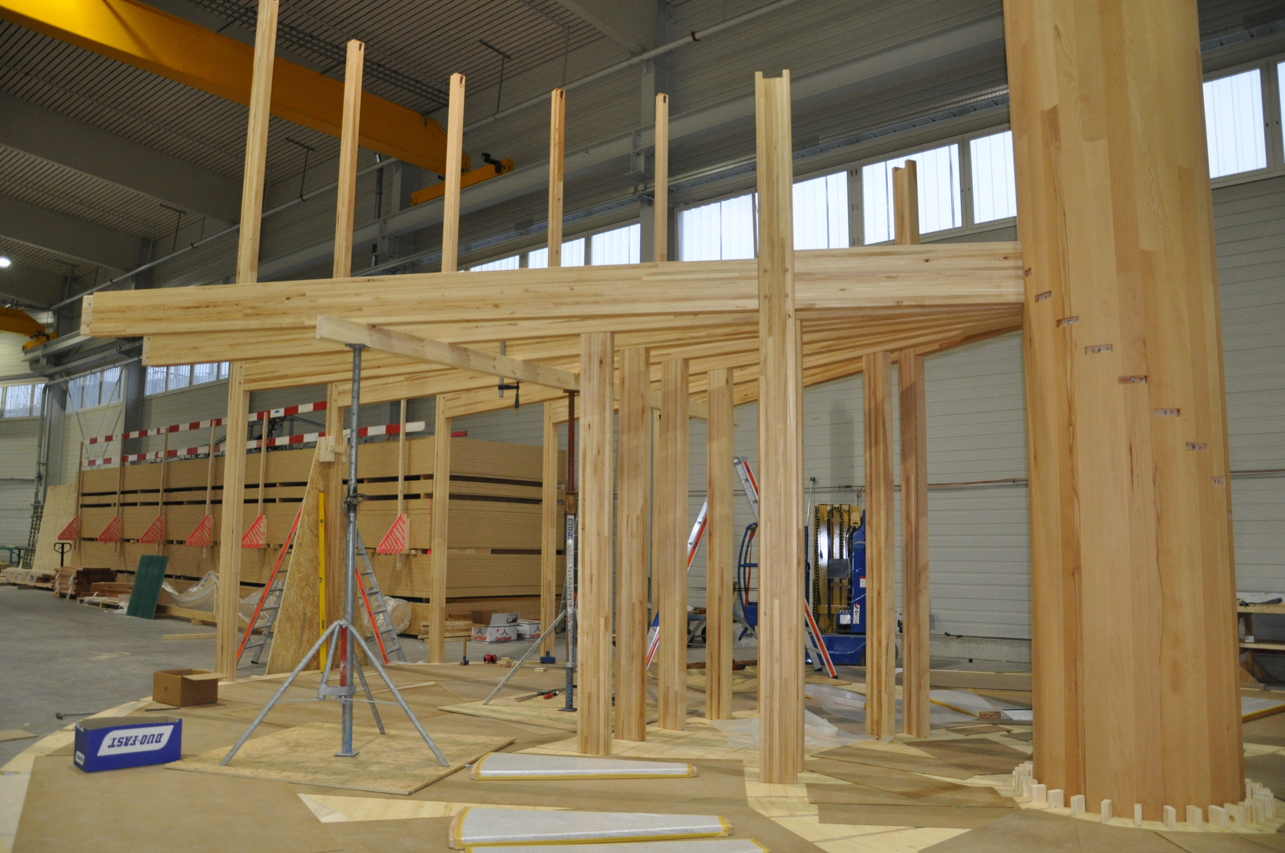Bau 2. Geschoss Pavillon mit elliptischem Grundriss