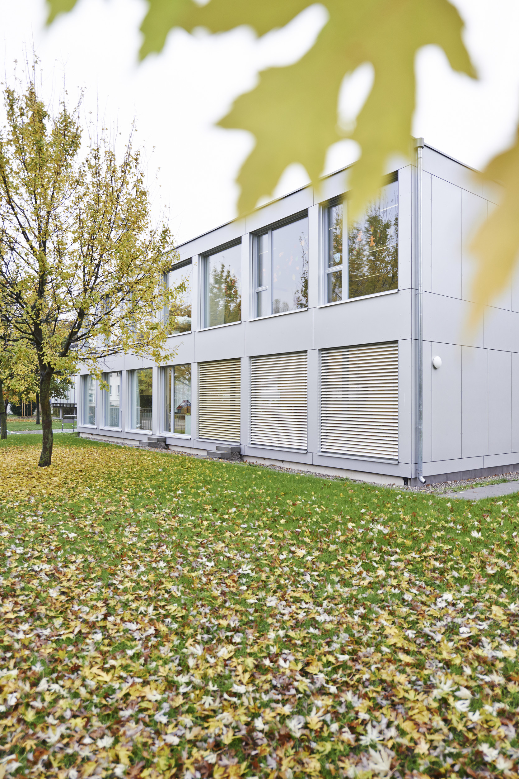 Grosse Sprossenfenster mit Einflügelfensterfunktion