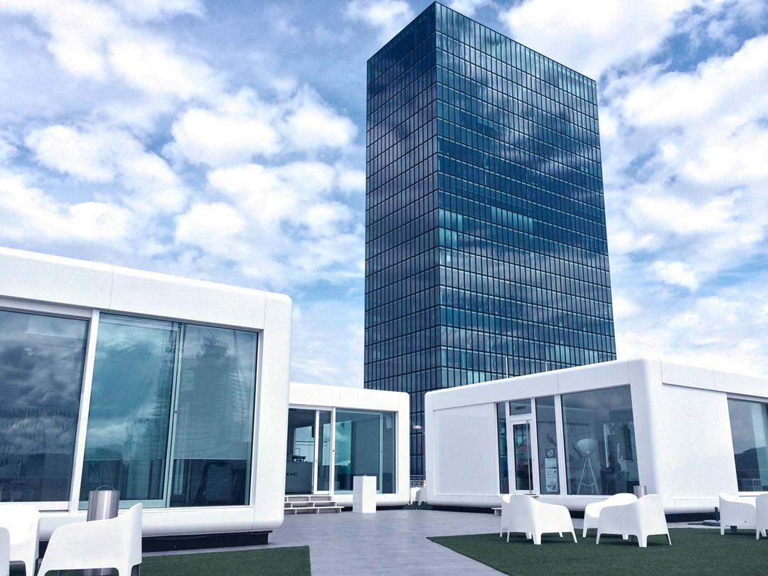 3 moderne Eventpavillons in MINGERGIE-Standard und Modulbauweise