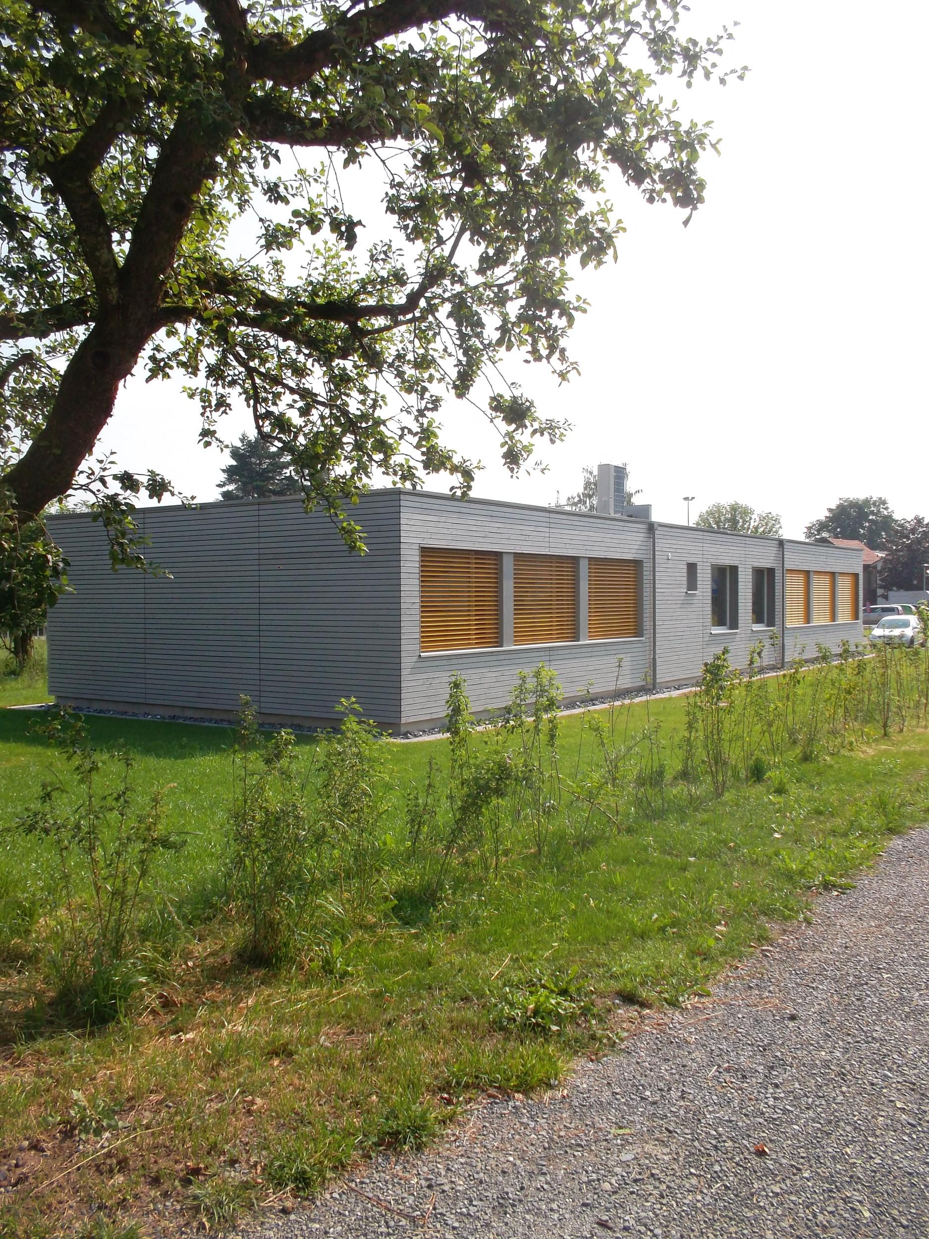 1-geschossiges Schulgebäude in Modulbauweise