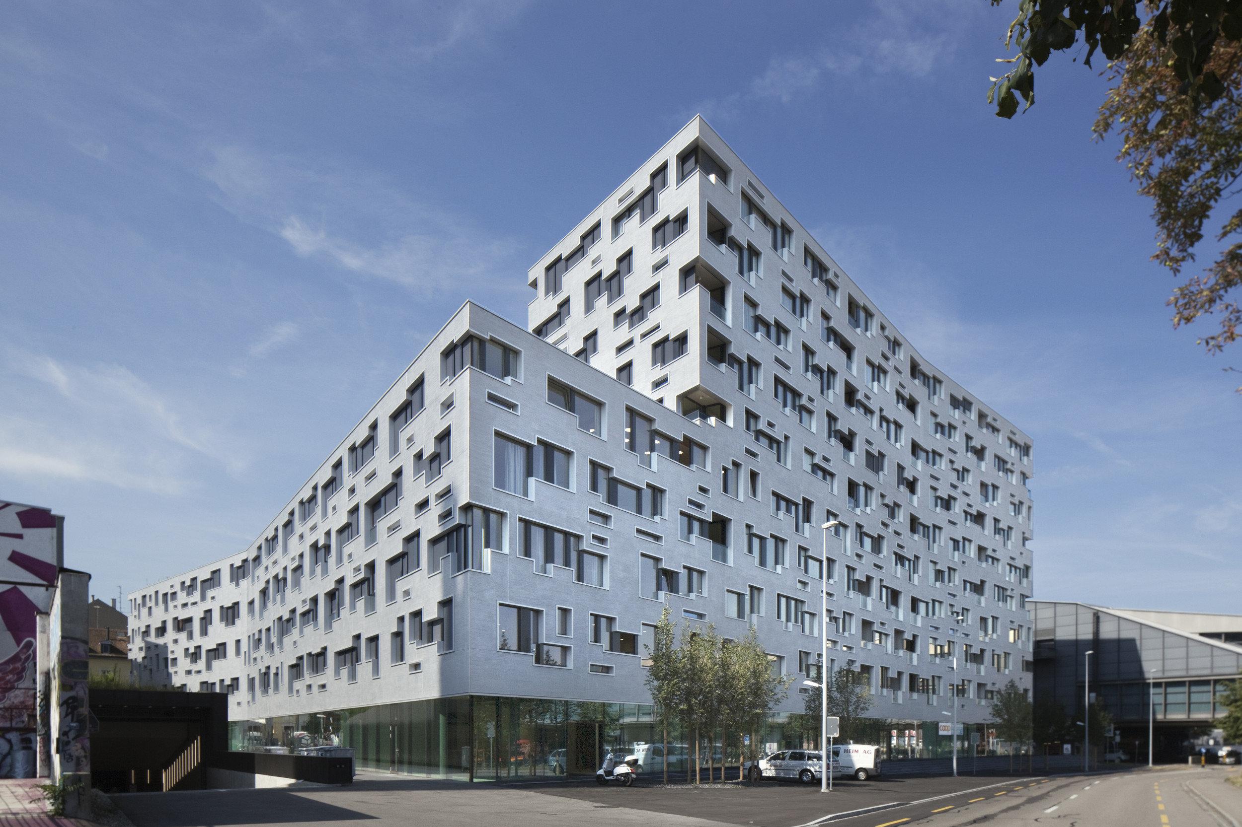 Bürogebäude in spezieller Form und extravaganter Geometrie