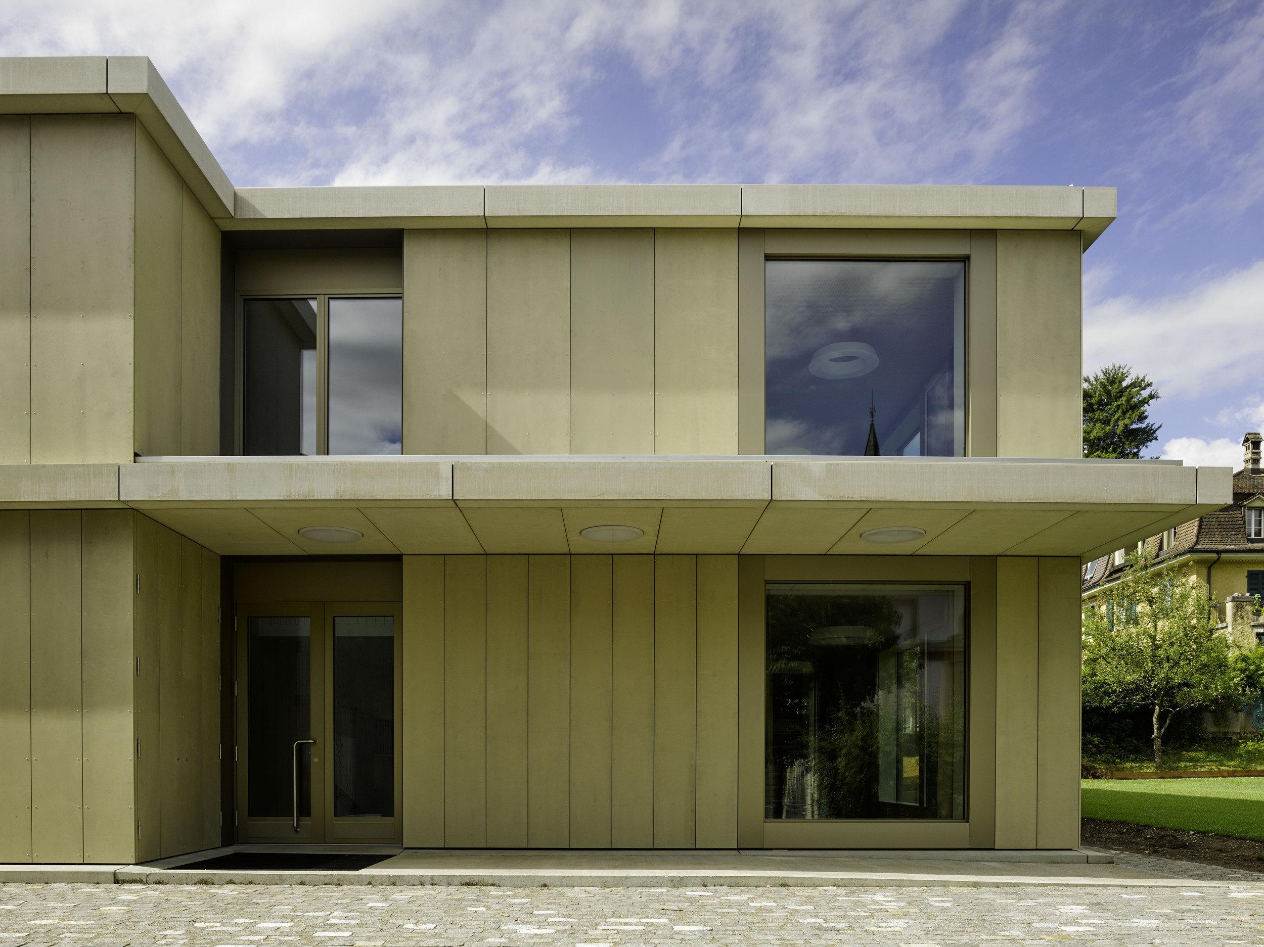 Holz-Beton-Verbunddecken zw. Geschosse eines 2-geschossigen Gebäudes