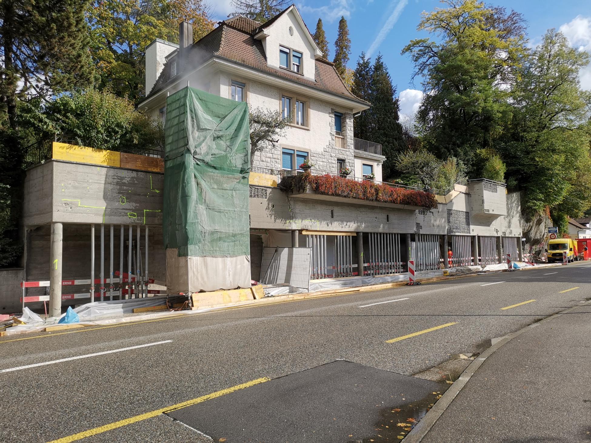 Beton-Instandsetzungsarbeit auf Oltner Baustelle in Übersicht