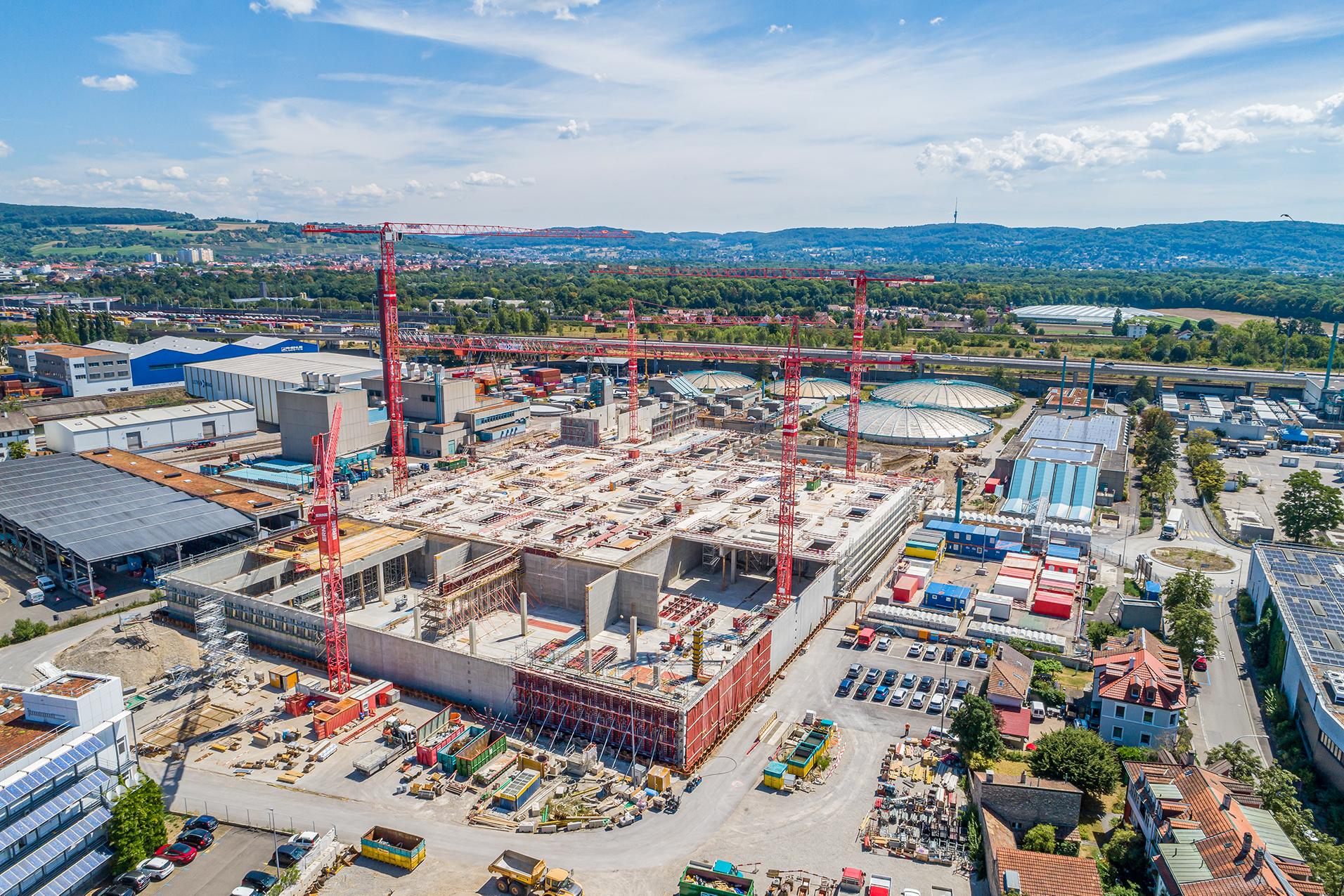 Hochbau Basel Erweiterung ARA ProRheno Vogelperspektive