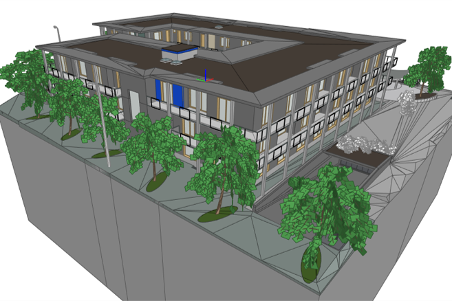 BIM-Projekt Stein Überbauung Casa Cura