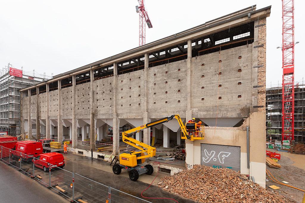 Basel Umbau Silo Erlenmatt Fassade