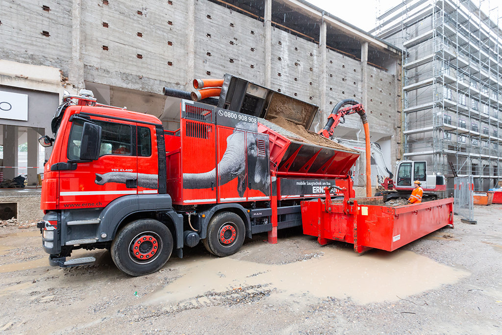 Basel Umbau Silo Erlenmatt Saugbagger