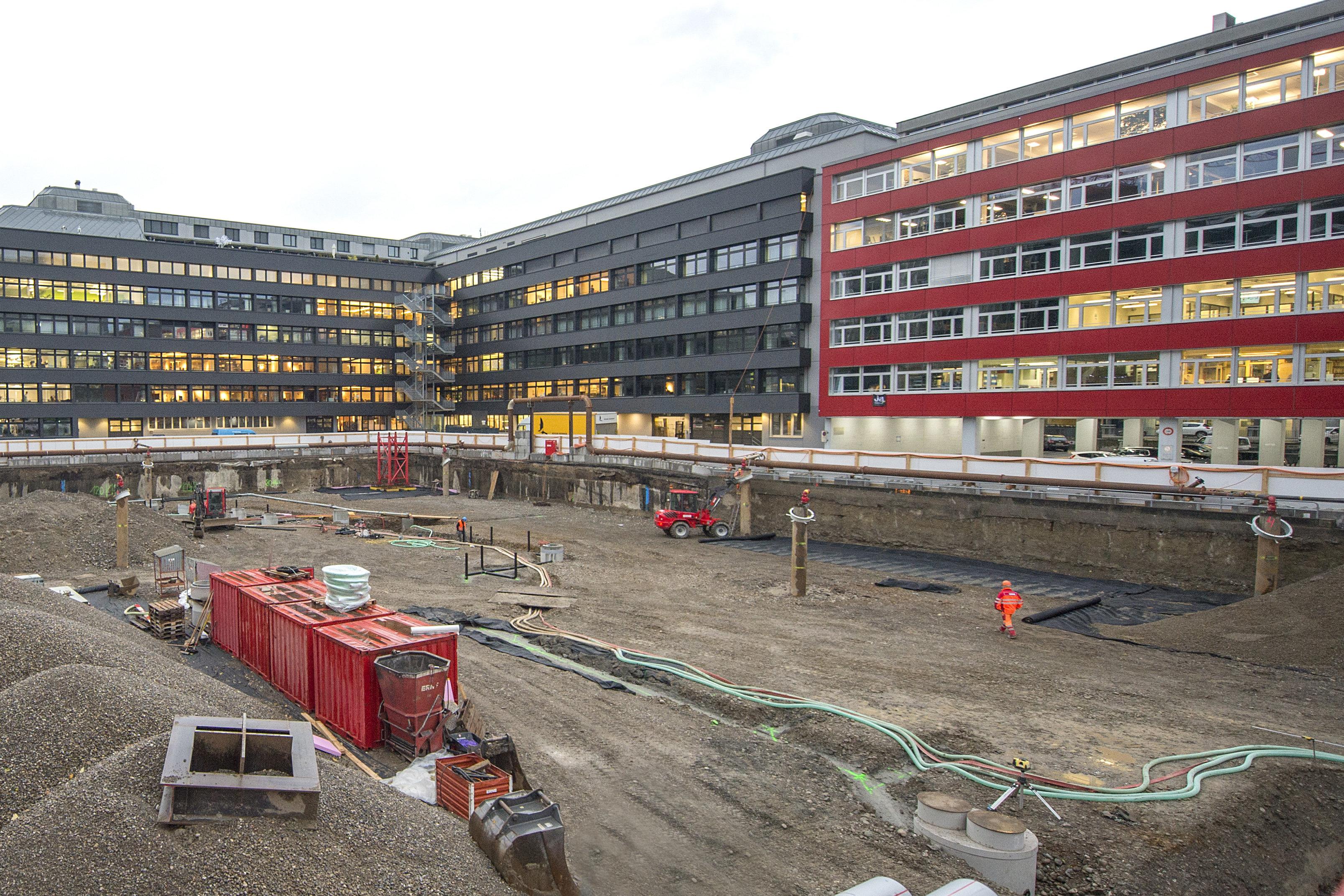 Baugrubenaushub Neubau KAPO Zürich