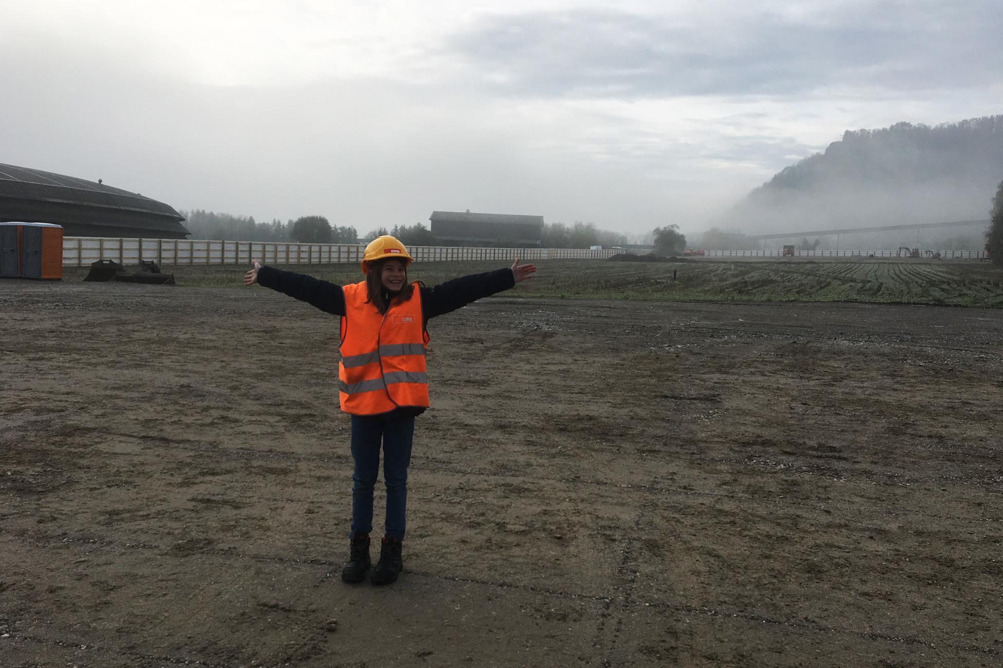 Tiefbau-Baustelle Zukunftstag Selma