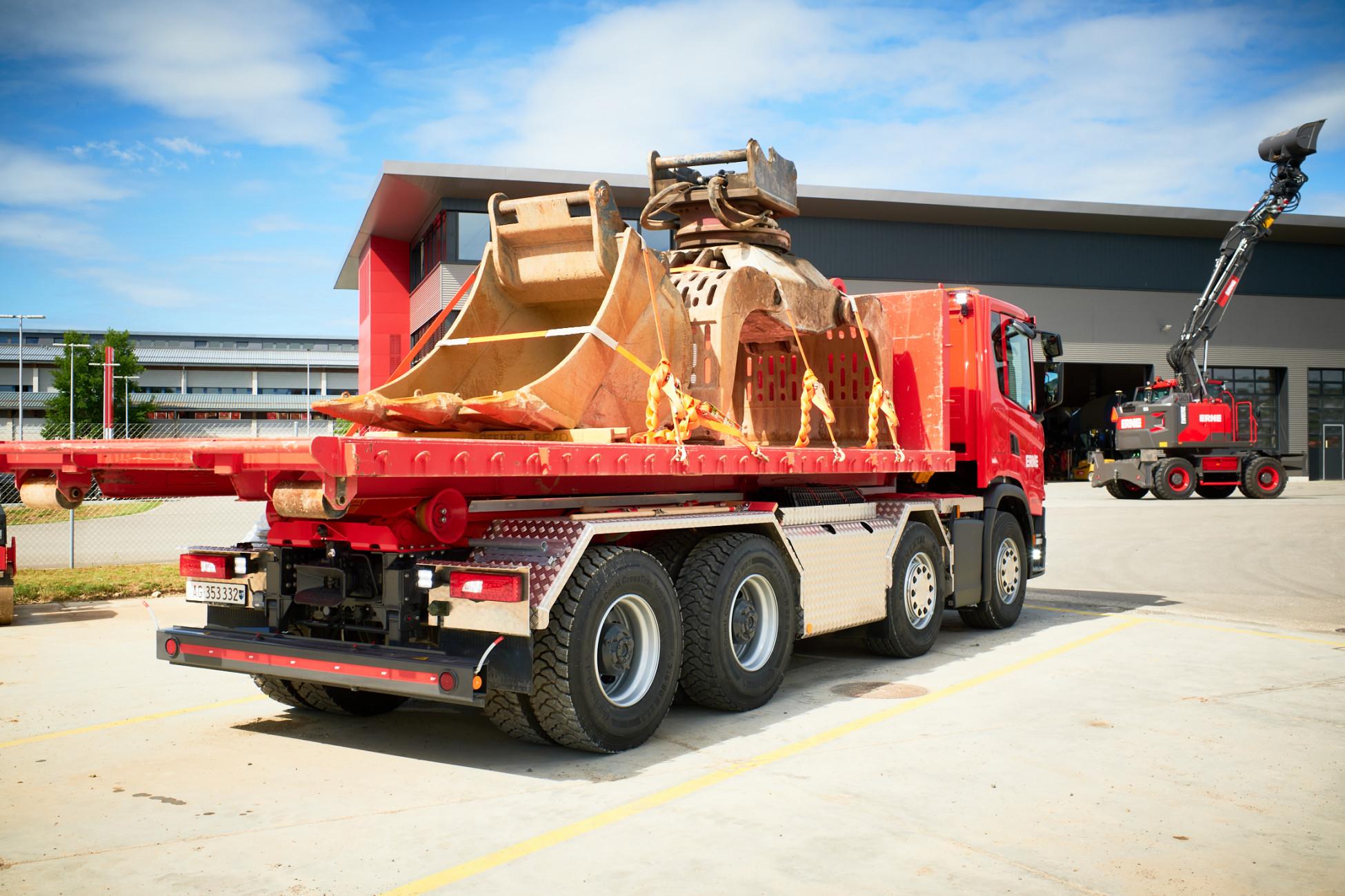 Bauunternehmung Logistik Lastwagen