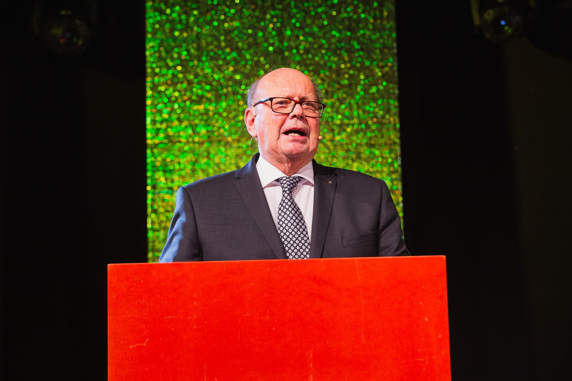 Patron Erich Erne eröffnet das ERNE-Fest 2019