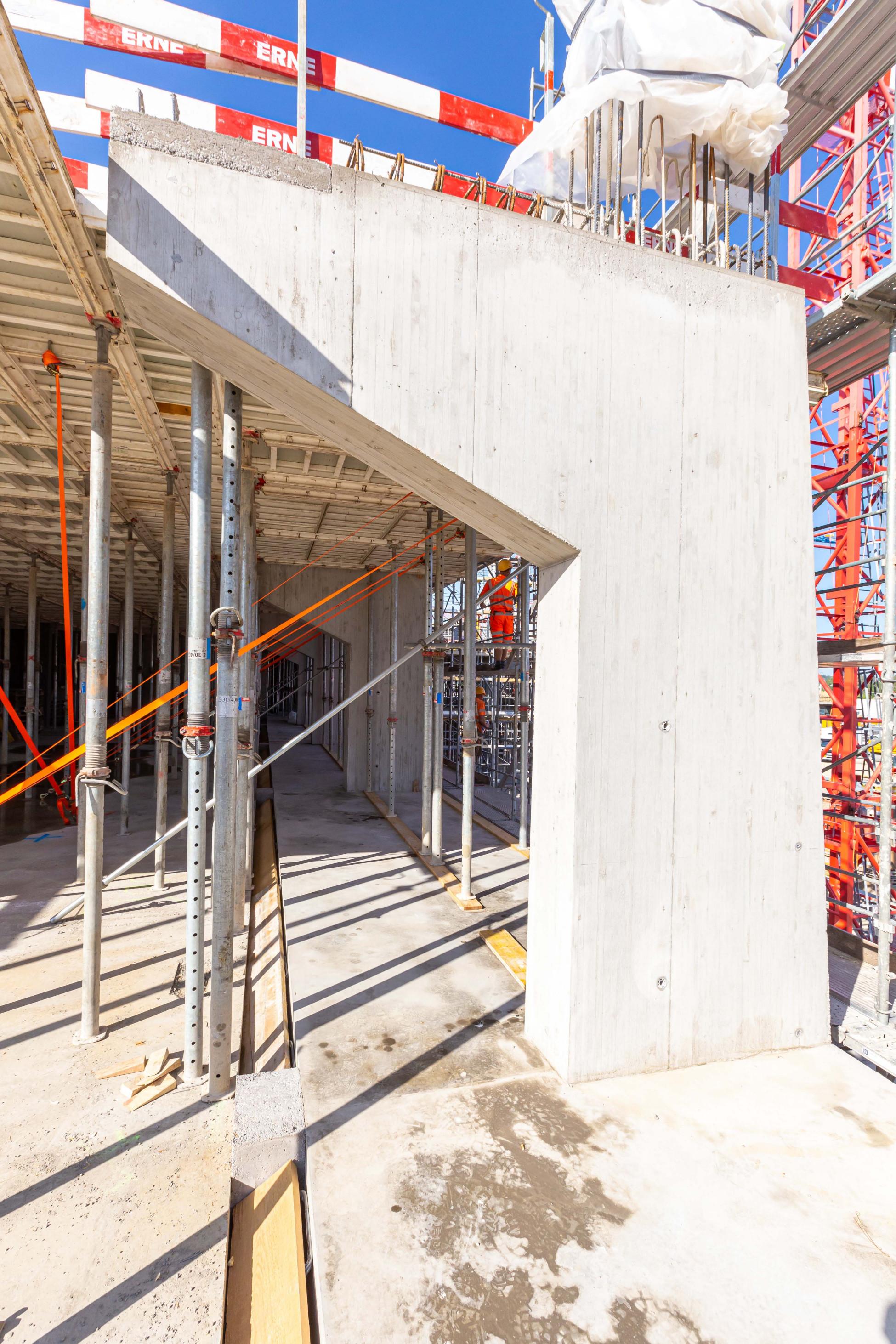 Hochbau Fassadenschotte neubau GRID Allschwil