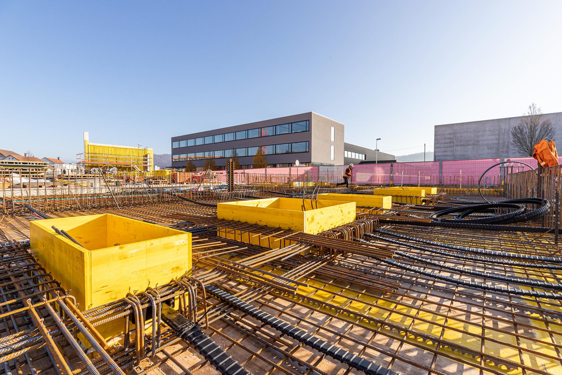 Hochbau Olten Neubau Betriebsgebäude a.en Vorspannung