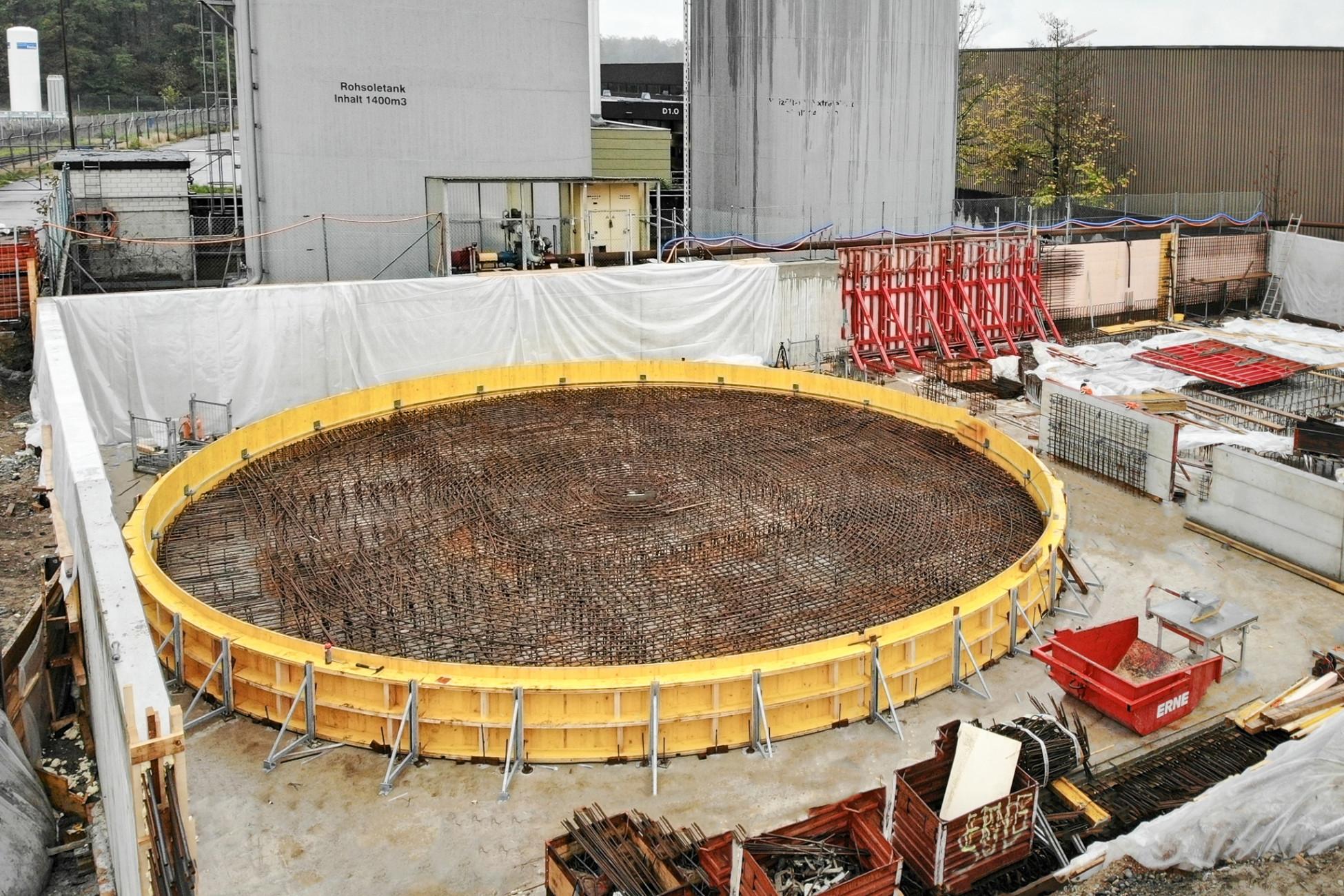 Rheinfelden Spezialschalung für Tanksockel