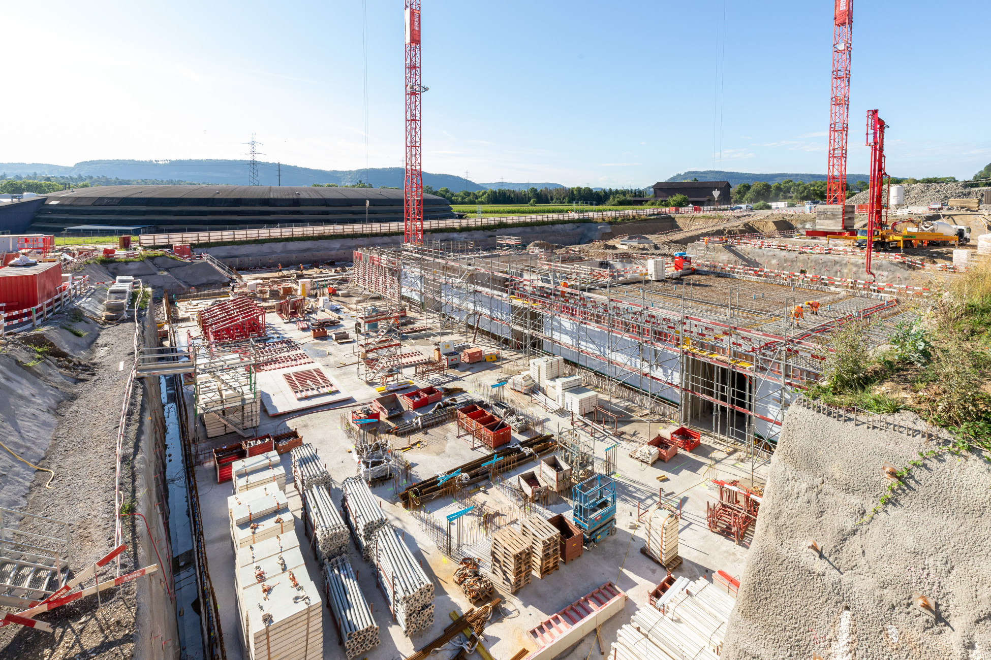 Infrastrukturbau Baustelle Park Innovaare