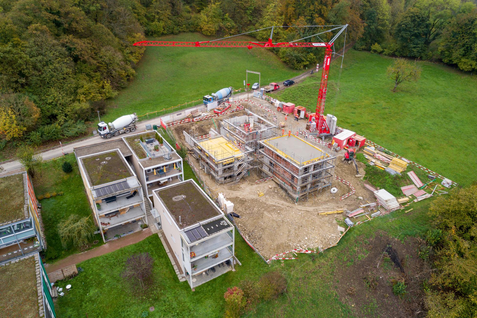 Laufenburg Lehrlingsbaustelle Luftbild