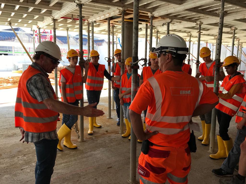 Besuch Schüler Baustelle Niedergösgen