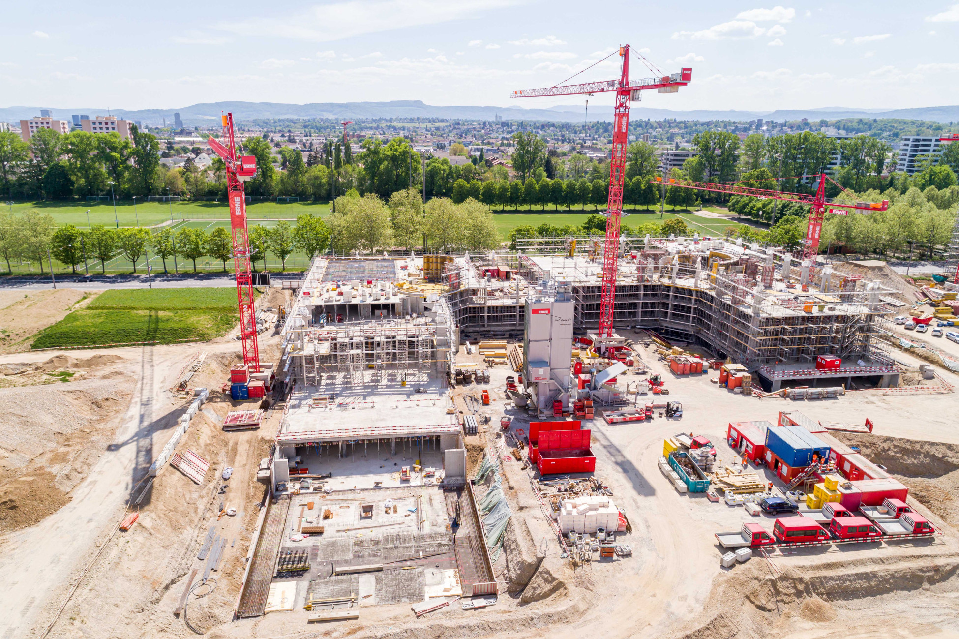 Neubau Allschwil BaseLink Büro- und Gewerbegebäude