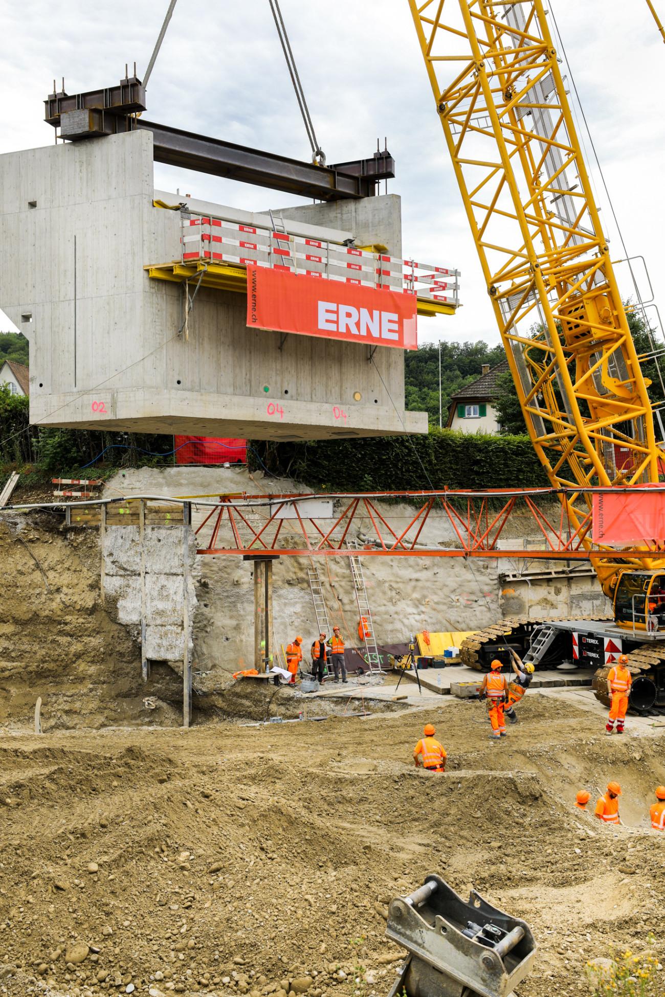 Neubau Widerlager Ostumfahrung Bad Zurzach