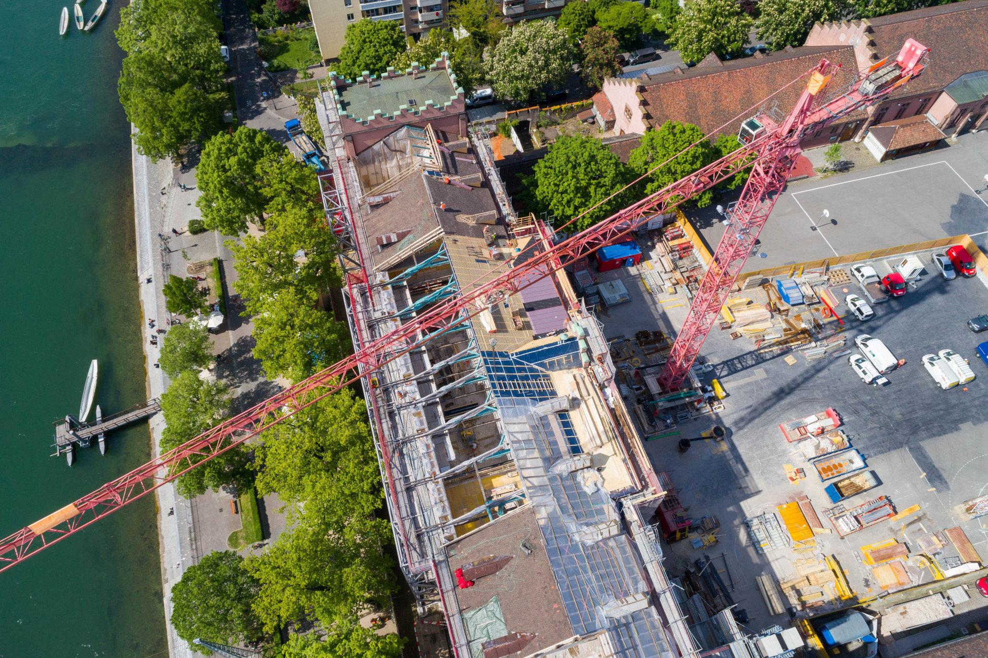 Sanierung Kaserne Basel Vogelperspektive