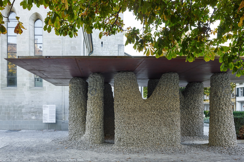 Saugbagger-Einsatz Rückbau Rock Print Pavillon