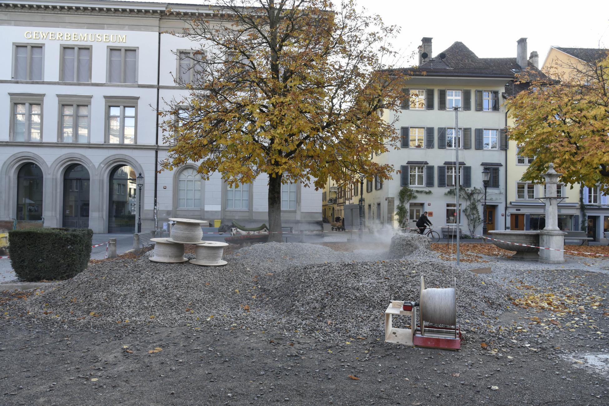 Saugbagger Einsatz Rückbau Rock Print Pavillon