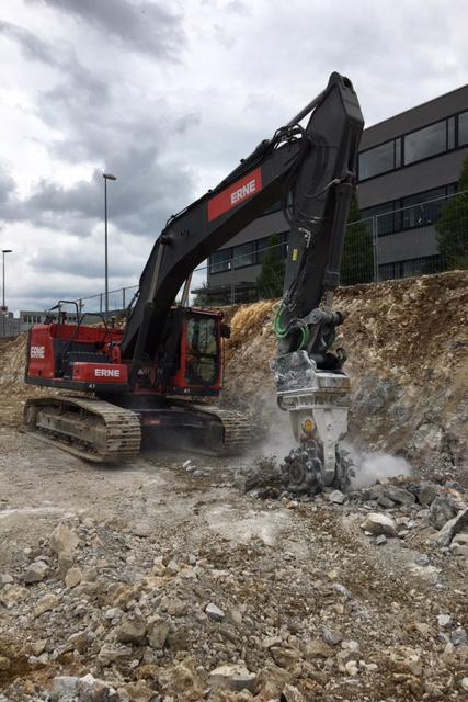 Tiefbau Olten Neubau Betriebsgebäude a.en Aushub Baugrubensohle