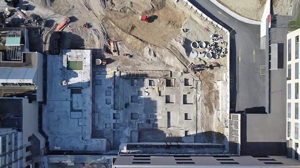 Tiefbau Schlieren Pflegezentrum Spital Limmattal Grundriss