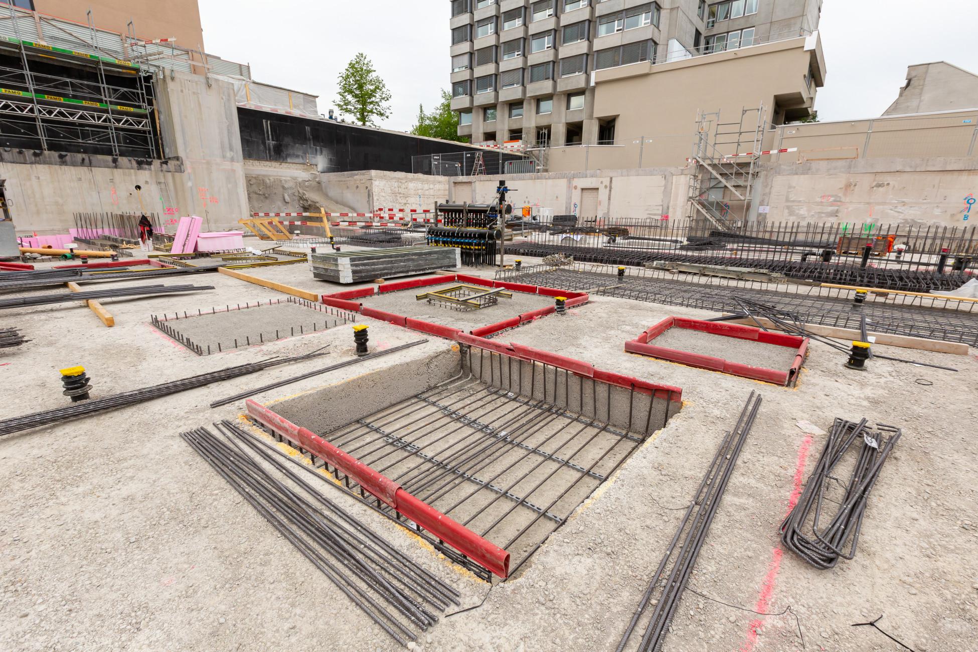 Tiefbau Schlieren Pflegezentrum Spital Limmattal negativ geschalte Fundamente