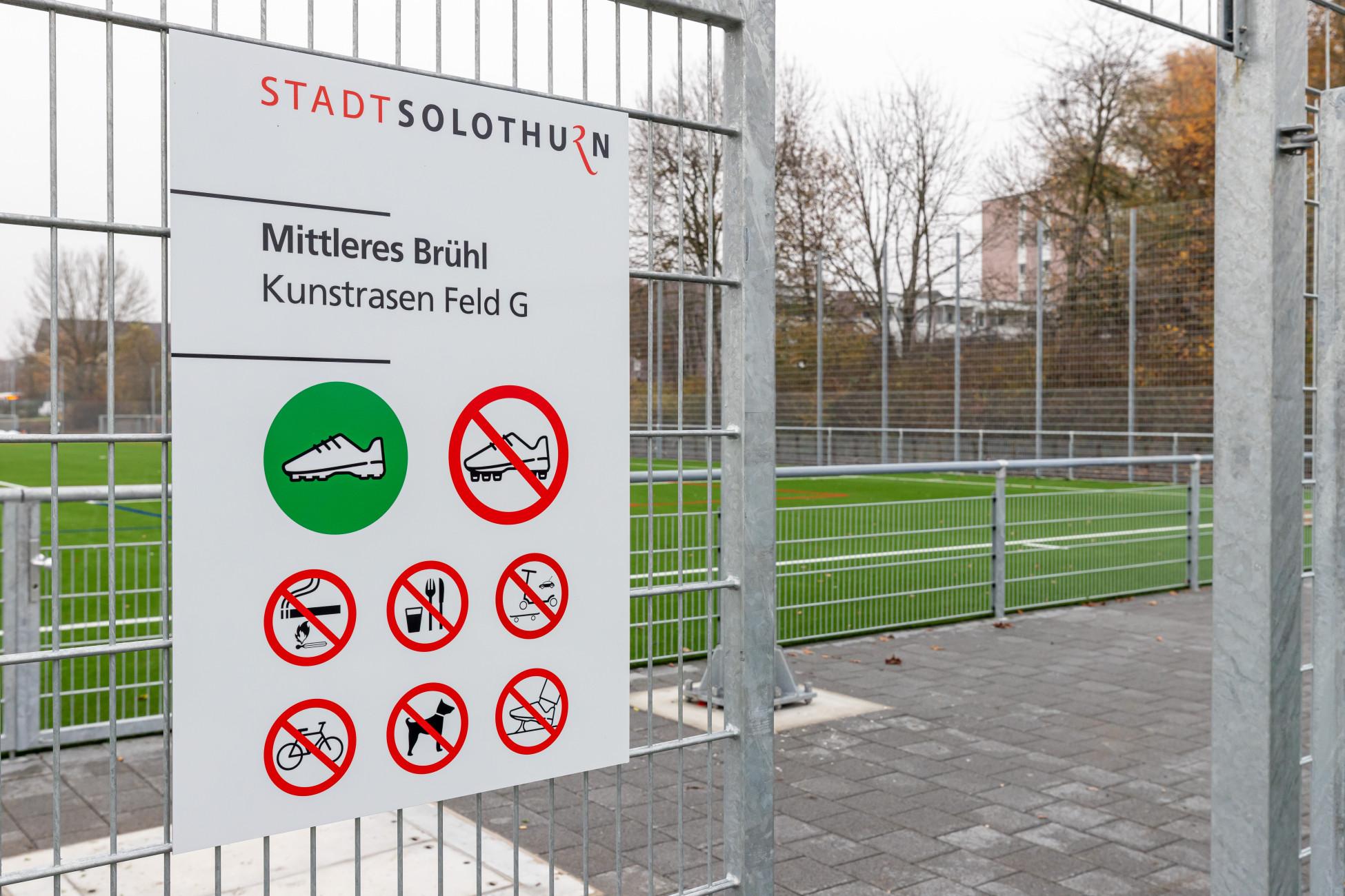 Tiefbau Solothurn Neubau Kunstrasen Mittleres Bruehl